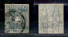 A17-365-A14-0163 ANTICHI STATI - TOSCANA - 1860 - 20 Cent Verdastro Chiaro (20c) - Colla (550) - Stamps
