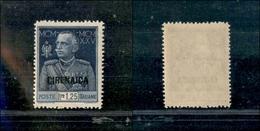 A17-309-A13-0557 COLONIE - CIRENAICA - 1926 - 1,25 Lire Giubileo (26) Dentellato 13 - Gomma Integra - Cert. AG (1.750) - Stamps