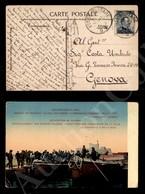 A17-229-A08-499 COLONIE - EGEO - Rodi - 15 Cent Grigio Nero (4) Su Cartolina Della PM 94 A Genova Del 8.10.19 - Stamps
