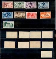 A17-317-A13-0580 COLONIE - EGEO - 1934 - Calcio (75/79+ Aerea 34/37) - Serie Completa - Gomma Integra (2.300) - Stamps