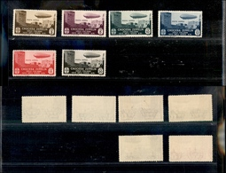 A17-319-A13-0583 COLONIE - EGEO - 1933 - Zeppelin (22/27 - Aerea) - Serie Completa - Gomma Integra (2.250) - Stamps