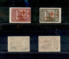 A17-321-A13-0586 COLONIE - EGEO - 1945 - Croce Rossa (132/133) - Serie Completa - Gomma Integra - Oliva (250) - Stamps