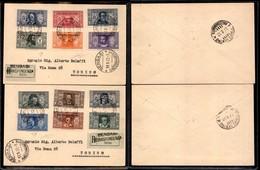 A17-371-A14-0587 COLONIE - EMISSIONI GENERALI - Società Dante Alighieri (11/22) - Serie Completa Su 2 Raccomandate Da Be - Stamps