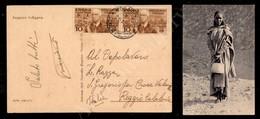 A17-236-A08-515 COLONIE - ERITREA - Coppia Del 10 Cent (1) Su Cartolina Da Mogadiscio A Reggio Del 25.11.37 - Stamps