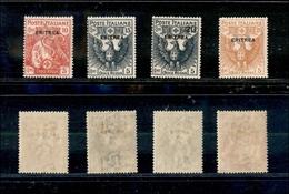 A17-328-A13-0602 COLONIE - ERITREA - 1916 - Croce Rossa (41/44) - Serie Completa - Gomma Integra (350) - Stamps