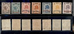A17-330-A13-0606 COLONIE - ERITREA - 1924 - Soprastampati (80/86) - Serie Completa - Gomma Integra (250) - Stamps