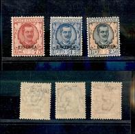 A17-331-A13-0607 COLONIE - ERITREA - 1926 - Floreale (113/115) -  Serie Completa - Gomma Integra - Cert. Raybaudi (1.250 - Stamps