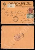 A17-243-A08-559 COLONIE - LIBIA - XII Fiera - 25 Cent (148) + 2 Lire (57) - Raccomandata Da Bengasi A Apollonia Del 21.5 - Stamps