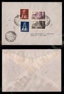 A17-244-A08-560 COLONIE - LIBIA - XI Fiera Di Tripoli (142/143 + Aerea 32/33) - Serie Completa Su Busta Da Bengasi A Vit - Stamps