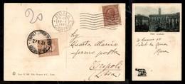 A17-246-A08-564 COLONIE - LIBIA - Cartolina Da Roma Del 20.1.21 Tassata In Arrivo Con 20 Cent Segnatasse (3) A Tripoli - Stamps