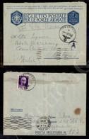 A17-247-A08-565 COLONIE - LIBIA - Feldpost B 08.12.42 - Biglietto Postale In Franchigia Per Milano Dalla Posta Militare  - Stamps