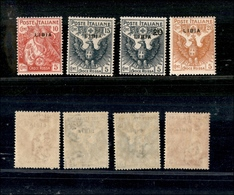A17-335-A13-0624 COLONIE - LIBIA - 1915/1916 - Croce Rossa (13/16) - Serie Completa - Gomma Integra (350) - Stamps