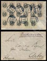 A17-271-A08-668 ESTERO - SERBIA - Serbia - Due Blocchi Di Sei + Una Striscia Di Tre Del 1k (84) + Coppia Del 5k (85) Su  - Stamps