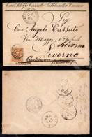 A17-216-A08-477 LEVANTE - EMISSIONI GENERALI - 20 Cent Estero (14) Su Busta Da Tunisi A Castelnuovo Berardenga Del 17.12 - Stamps