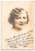 Photo Dédicacée ( 14,5 X 9,5 Cm  ) D'une Actrice ?? 1946 - Dédicacées