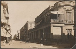 La Rue Rosette, Alexandrie, 1916 - Photo CPA - Alexandria