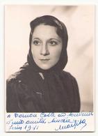Photo Dédicacée ( 12 X 8 Cm ) Artiste Marlisa ?? Juin 1941 - Foto Dedicate