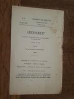 1882 - Amendement Au Projet De Loi - Service Colonial - Saint Pierre (ile De La Réunion), Fort De France, Basse Terre - Decreti & Leggi