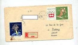 Lettre Recommandee Tatabanya Sur Ski Espace - Postmark Collection