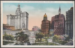 City Hall Park And Municipal Buildings, New York City, C.1920 - Union News Co Postcard - Manhattan