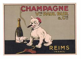 POST CARD CARTE POSTALE CARTOLINA POSTALE  CHAMPAGNE PAUL BUR - Advertising