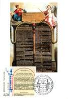 1er JOUR - VERSAILLES - LES 4 CARTES DECLARATION DES DROITS DE L'HOMME - - Versailles