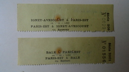 H8.8 Railway Ticket Stub - Bale A Paris- Est - Via Belfort /Igney-Avricourt  A Paris -Est - Hungarian Travel Office 1934 - Transportation Tickets