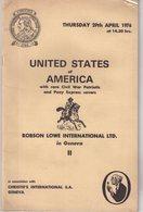 USA : UNITED STATES OF AMERICA . ( CHRISTIES ) . 29 APRIL 1976 . - Catalogues De Maisons De Vente