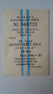 H8.10  Vessel -Ship -Ferry Ticket Stub- Hungary  Balaton Balatonfüred  100 HUF - Transportation Tickets