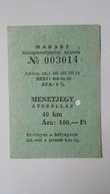 H8.11  Vessel -Ship -Ferry Ticket Stub- Hungary  Balaton SIÓFOK  100 HUF - Transportation Tickets