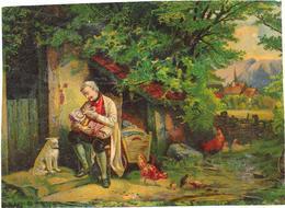 CHROMO 17x12 Cm - Homme Donnant Le Biberon à Un Bébé  - ROUIL - - Chromos
