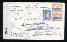 Bolivia (Uyuni) To Scotland (Edimburg), 1917, Cover, WW I, USA Censor Tape - Bolivia