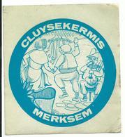 Sticker - CLUYSEKERMIS - Merksem (blauw) - Autocollants