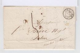 Sur Lettre Marque Postale Cachet Départ Puy St Martin 1844. (568) - Marcophilie (Lettres)