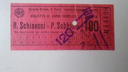 H8.14  Italia  Venezia  Laguna - Ferry Ticket - Bigletto Di Corsa Semplice  - R.Schiavioni-P.Sabbioni Ca 1930 - Vervoerbewijzen