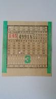 H8.15 Hungary Autobus Bus Ticket Ca 1950-60's -Fővárosi Autóbuszüzem (FAÜ) Budapest - Transportation Tickets