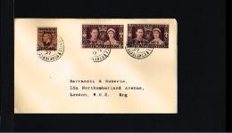 Famous People - Royalty - Coronation King George - FDC Britisch Post Abroad 1937 [EK016_17] - Koniklijke Families