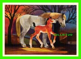 CHEVAUX - HORSES - JUMENT ET SON POULIN - GIAN DA PIN: STUTE MIT FULLEN - EDITION STEHLI - - Chevaux