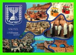 HAIFA, ISRAEL - MILLENNIUM 2000 - 7 MULTIVUES -  PUB. BY PALPHOT LTD - - Israel