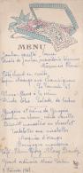 """Menu Illustré De Bapteme """"Nouveau Né Couché Au Milieu D'une Boite De Dragées Le 8 Février 1948 - Menus"""