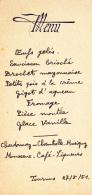 Menu Illustré Gauffré Et écrit à La Main Tournus, Le 27/5/51 - Menus