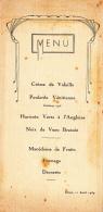Menu Illustré Et Imprimé, Diner, 11 Avril 1939 - Menus