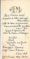 Menu Gauffré Et écrit à La Main, 6 Mai 1948 - Menükarten