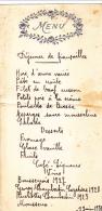 Menu Gauffré Et écrit à La Main, Déjeuner De Fiançailles, 9 Juin 1935 - Menus