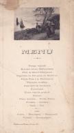 """Menu Illustré Et Imprimé """" Bretonnes Au Départ Des Pêcheurs - Chalon Sur Saône, 29 Mai 1914 - Menükarten"""