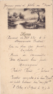 """Menu Illustré Et écrit à La Main """"Paysage Champêtre"""" 14/7/30 - Menus"""