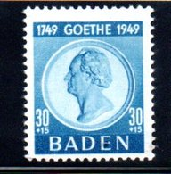 Baden  /  N 50  / 30 + 15 Pf Bleu /  NEUF** - Baden