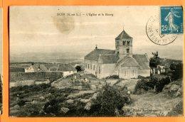 E164, Suin, Eglise Et Le Bourg,  Circulée - France