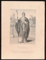 IMAGE PIEUSE - H.PRENTJE = GRAVURE 13.5 X 10.5 CM == S.BONIFACIUS - Images Religieuses