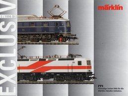 Catalogue Märklin Exclusiv 1996-2 Einmaligen Serien Spur HO - German